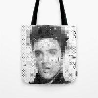elvis Tote Bags featuring Elvis by Artstiles
