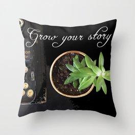 Grow Your Story Throw Pillow