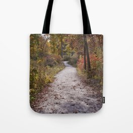 Fall and North DuPage Woods Trail Tote Bag