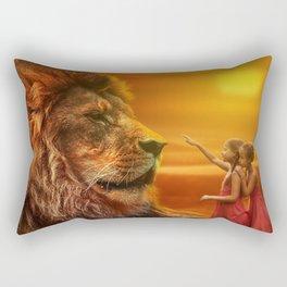 Lion twins | Lion et jumelles Rectangular Pillow