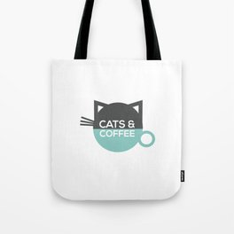 Cats and coffee Tote Bag