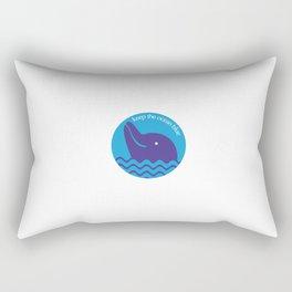 Keep the Ocean Blue Rectangular Pillow