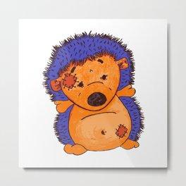 Cuddly Hedgehog Metal Print