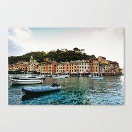 Portofino Boats Canvas Print