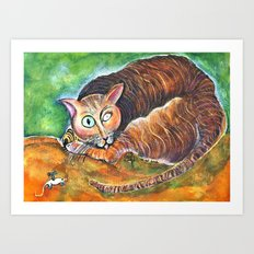 Tomcat and His Toy Art Print