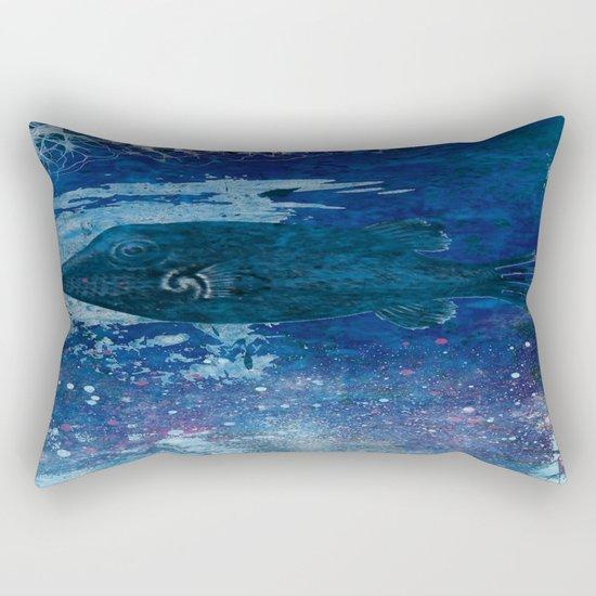 Cosmic fish, ocean, sea, under the water Rectangular Pillow