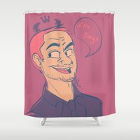 crowley Shower Curtains featuring Crowley by The Art of Nicole