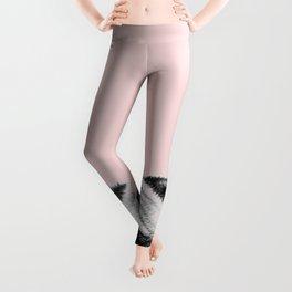 Blush pink Pug pop Leggings