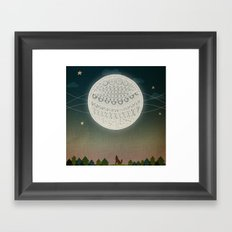 Light up the moon Framed Art Print