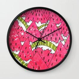 Watermelon Mounts Wall Clock