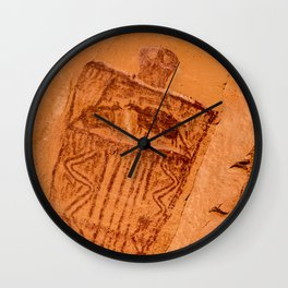 Great Gallery Pictograph Close-up Canyonlands National Park - Utah Wall Clock