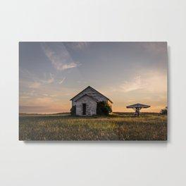 Galpin Church, Montana Prairie Metal Print