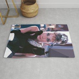 'Audrey Hepburn' Low Poly Triangle Artwork Art Print Rug