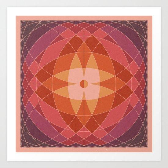 Midcentury Pattern 07 Art Print