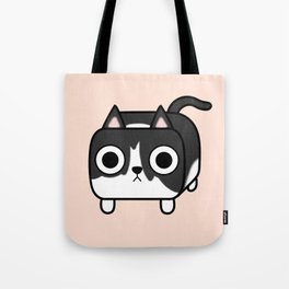Cat Loaf - Tuxedo Kitty - Black and White Tote Bag