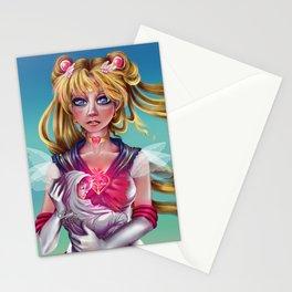 Super Sailor Moon saves Sailor Saturn Stationery Cards