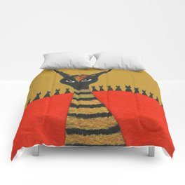 Morocco Gold Whimsical Cats Comforters