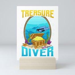 Awesome Scuba Diving Treasure Diver Mini Art Print