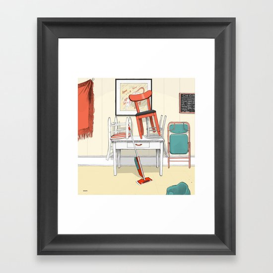 Kitchen, 3pm Framed Art Print