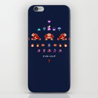 donkey kong iPhone & iPod Skins featuring Donkey Kong by Slippytee Clothing