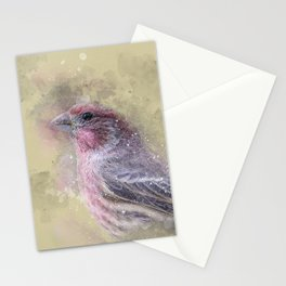 Rosey House Finch Stationery Cards