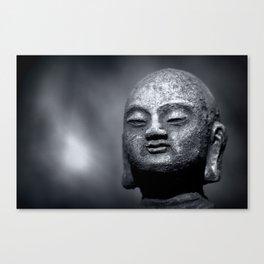 Wisdom - Buddha Black & White Canvas Print