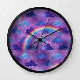 Rainy Day Rainbow Weather Wall Clock