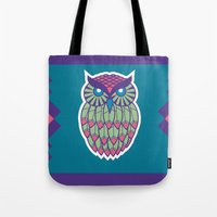 indie Tote Bags featuring Indie Owl by Dino DAdamo