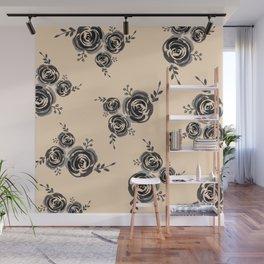 Roses pattern Wall Mural