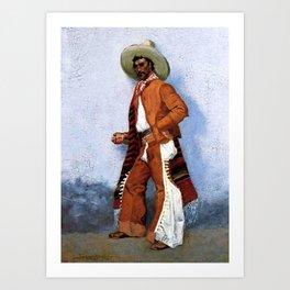 "Frederic Remington Western Art ""A Vaquero"" Art Print"