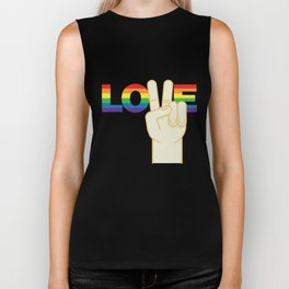 Peace and Love Biker Tank