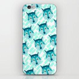 husky - wht pattern iPhone Skin