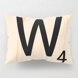 Scrabble Letter W - Scrabble Art and Apparel Pillow Sham