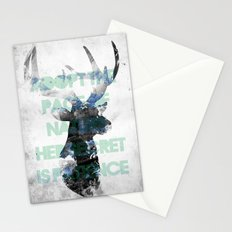 Adopt the pace of nature, her secret is patience Stationery Cards