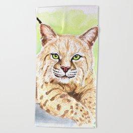 Tiger Lilly Bobcat Beach Towel
