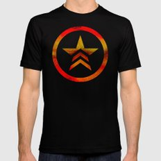 Mass Effect Renegade Black Mens Fitted Tee LARGE