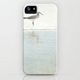 Reflecting Sandpiper iPhone Case