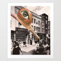 """The snail"" Art Print"