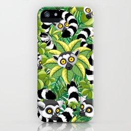 Lemurs on Madagascar Rainforest iPhone Case