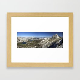 Cathedral Lakes and Peak Framed Art Print