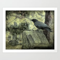 Waiting For The Book Worm Art Print