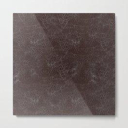 Brown Cracking  Leather-Look Metal Print
