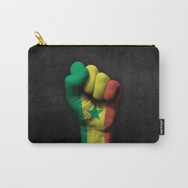 Senegal Flag on a Raised Clenched Fist Carry-All Pouch
