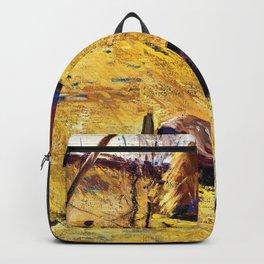 George Wesley Bellows - Haystacks And Barn - Digital Remastered Edition Backpack