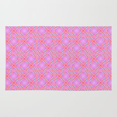Pastel Broken Diamond Swirl Pattern Rug