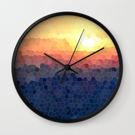 Stained-glass Effect Sunset Wall Clock