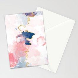 Kintsugi Pastel Marble #kintsugi #gold #japan #marble #pink #blue #home #decor #kirovair Stationery Cards