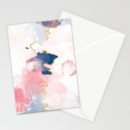 Kintsugi Pastel Marble #kintsugi #gold #japan #marble #pink #blue #home #decor #kirovair Stationery Cards