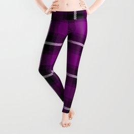 Patriarch purple (#808000) color themed SCOTTISH TARTAN Checkered Fabric Pattern texture background Leggings