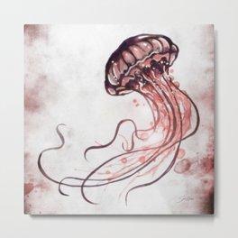 Jellyfish II Metal Print